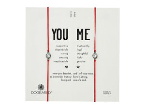 Dogeared You & Me Crystal Friendship Set