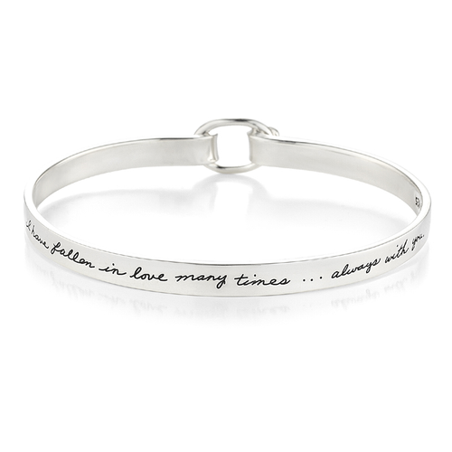 Falling In Love - Quote Bracelet