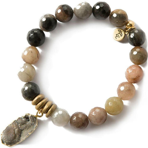 FOCUS ON THE PRESENT. Fancy Jasper Gemstone Bracelet