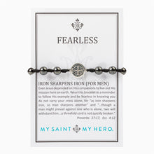 Load image into Gallery viewer, Fearless Iron Sharpens Iron Blessing Mens Bracelet