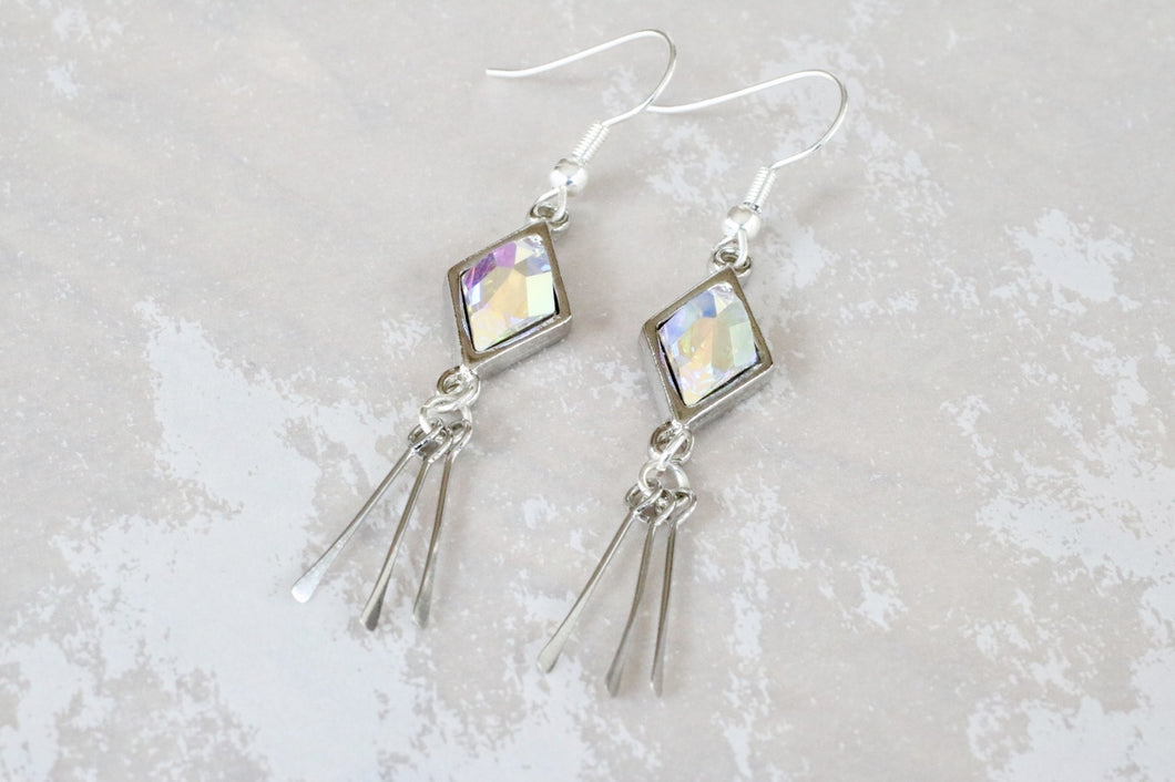 Stash Berlynne Fringe Earrings - Crystal AB
