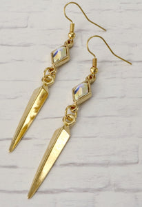 Stash Berlynne Crystal Drop Spike Earrings - Crystal AB
