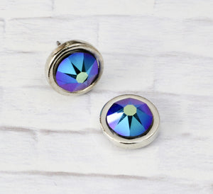 Stash Swarovski Crystal Studs - Cosmic Black