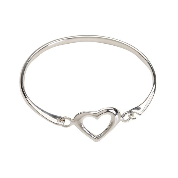 Bangle (Heart) - Sterling Silver Bracelet