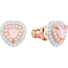 Load image into Gallery viewer, One Stud Pierced Earrings, Multi-colored, Rose gold plating