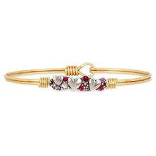 Load image into Gallery viewer, Heart Medley Bangle Bracelet