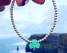 Load image into Gallery viewer, Opal Shamrock Beaded Bracelet