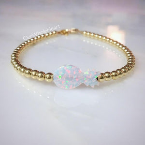 Pineapple Opal Beaded Bracelet