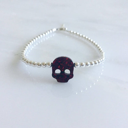 Skull Opal in Dark Burgundy
