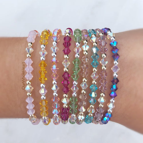 The Amanda ~ Swarovski Crystal Stacker Beaded Bracelet