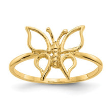 Load image into Gallery viewer, 14k Polished Butterfly Ring, Size 7