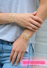 Load image into Gallery viewer, Strength Bracelet Gold Tone