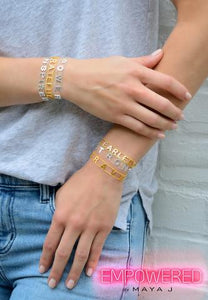 Strength Bracelet Gold Tone