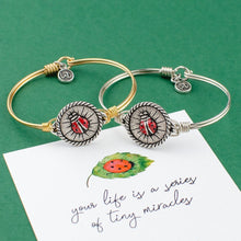 Load image into Gallery viewer, Ladybug Bangle Bracelet