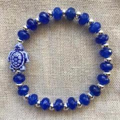 Limited Edition Lapis Sea Turtle Bracelet