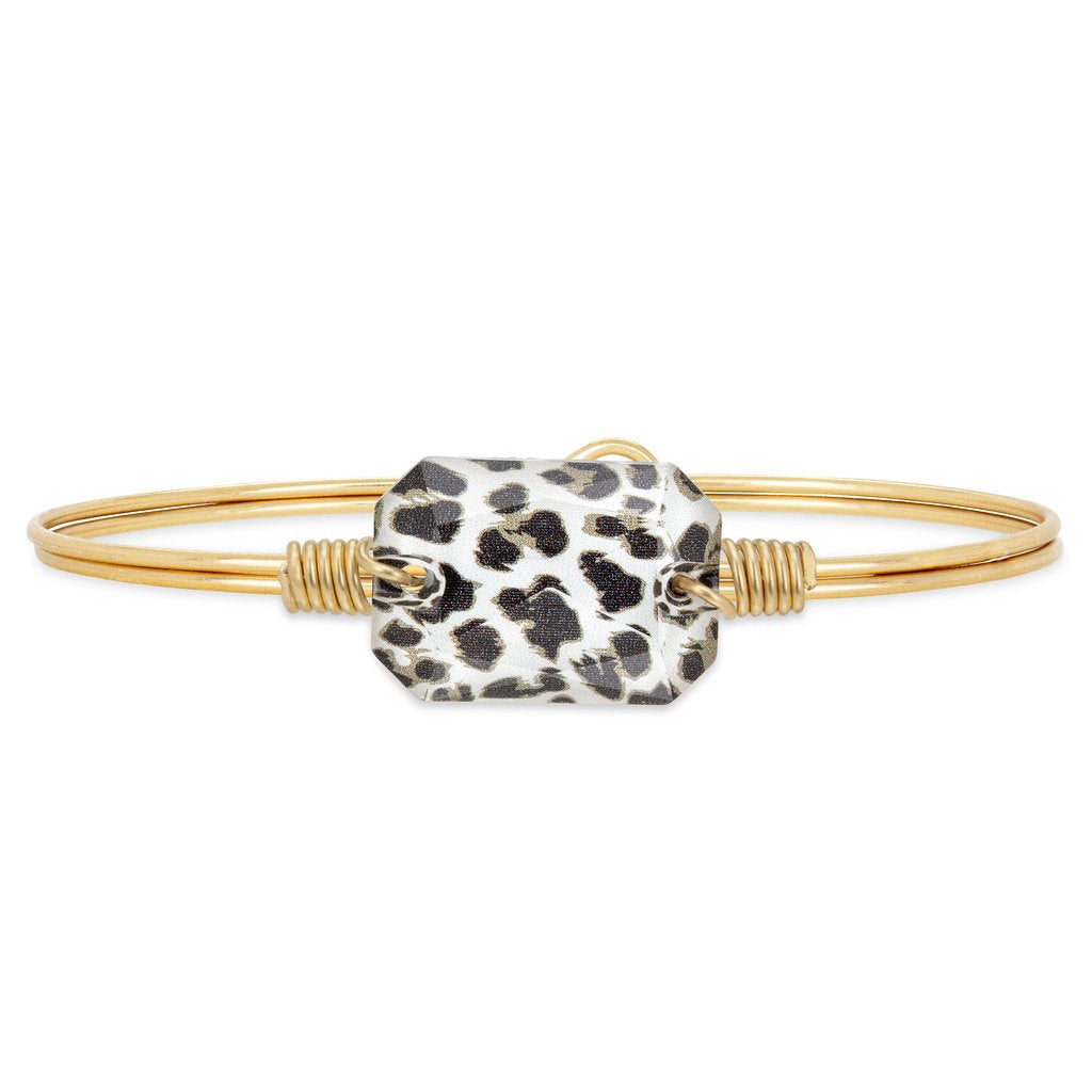 Dylan Bangle Bracelet in Leopard