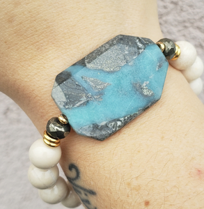 Stash Limited Edition Amazonite with Black Tourmaline on Riverstone
