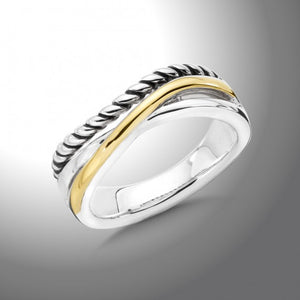 Colore SG Sterling Silver & 18K Gold Ring