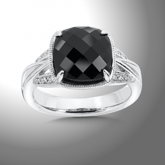 Colore SG Onyx White Diamond Ring