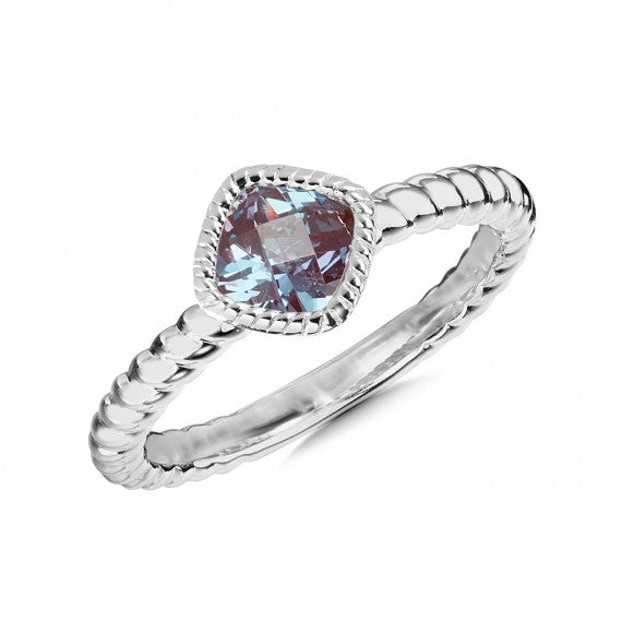 Colore SG Created Alexandrite Ring in Sterling Silver