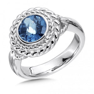 Colore SG Sterling Silver London Blue Topaz Ring