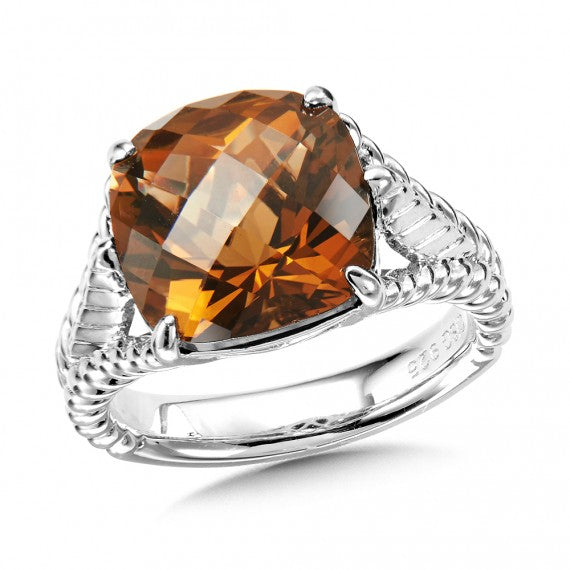 Colore SG Sterling Silver Honey Citrine Ring