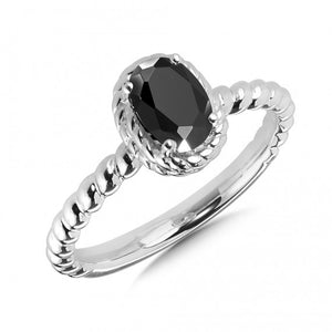 Colore SG Onyx Ring in Sterling Silver