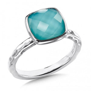 Colore SG Sterling Silver Turquiose Fusion Ring