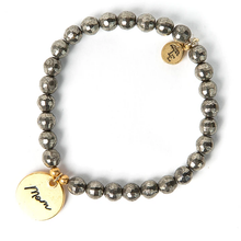 "Load image into Gallery viewer, ""Mom"" Pyrite Bracelet"