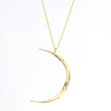 Load image into Gallery viewer, Lotus Celeste Moon Necklace in Gold Filled (Small)