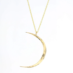 Lotus Celeste Moon Necklace in Gold Filled (Small)