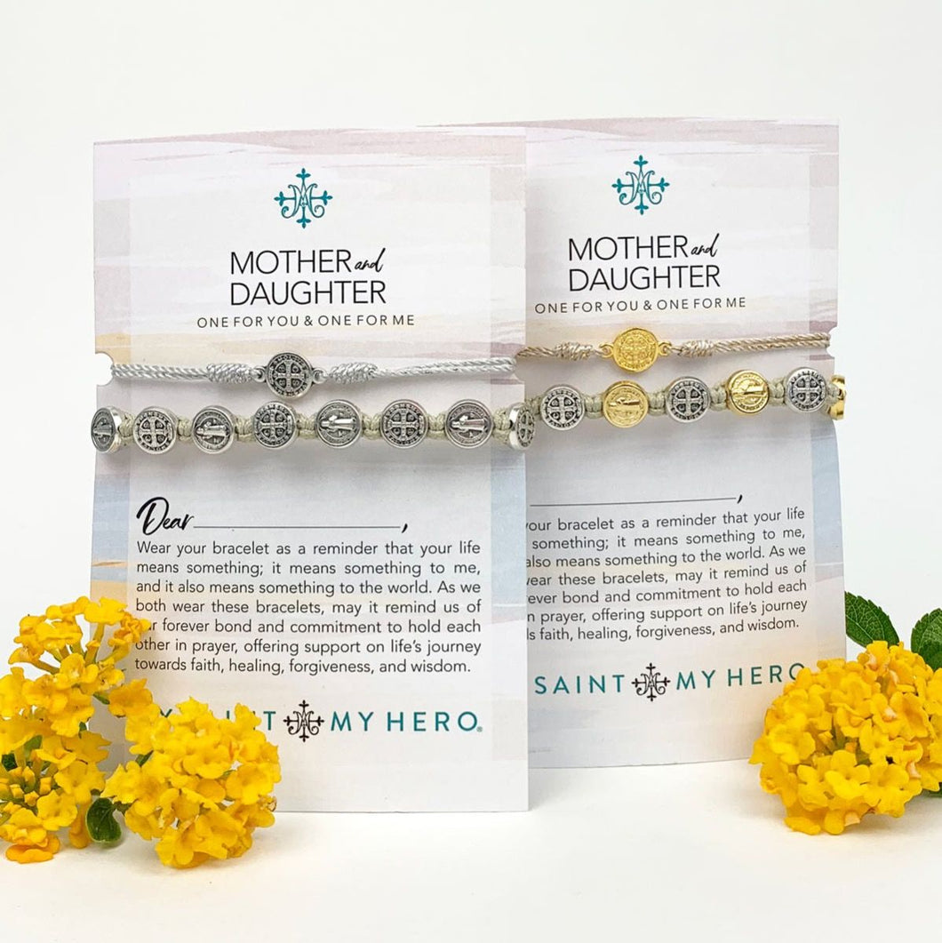 Mother and Daughter Limited Edition Bracelet Set- Silver Metal