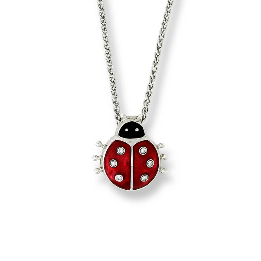 Sterling Silver Red Ladybug Necklace