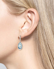 Load image into Gallery viewer, Sterling Silver Light Blue Wire Earrings - Blue Topaz.