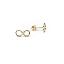 Load image into Gallery viewer, Infinity Wirewrap Stud Earrings