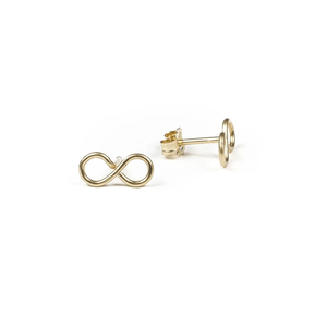 Infinity Wirewrap Stud Earrings