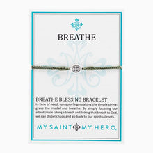 Load image into Gallery viewer, Breathe Blessing Bracelet - Silver Medal
