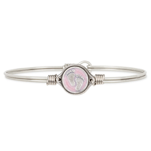 Load image into Gallery viewer, Little Footsteps Bangle Bracelet in Pink