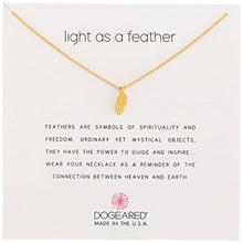 Load image into Gallery viewer, Dogeared Feather Necklace