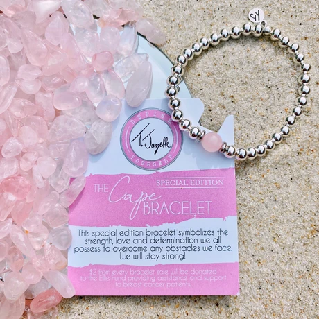 TJazelle Special Edition Cape Bracelet - Breast Cancer Awareness