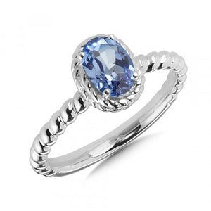 Colore SG Birthstone Collection Ring in Sterling Silver