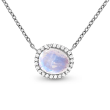 Load image into Gallery viewer, Moonstone Spirit Keeper Necklace