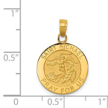 Load image into Gallery viewer, 14k Saint Michael Medal Pendant