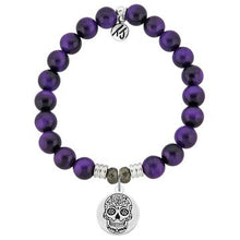 Load image into Gallery viewer, TJazelle Sugar Skull Charm Bracelet