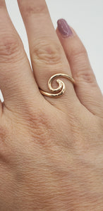 14K Rose Gold Beach Wave Ring