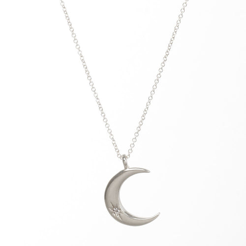 we found each other crescent moon necklace, sterling silver
