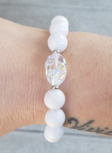 Stash White Mountain Jade Bethaney Swarovski Crystal Bracelet *Limited Edition