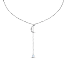 Load image into Gallery viewer, Moonstone Moon Necklace