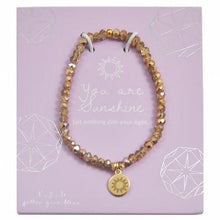 Load image into Gallery viewer, Mini Crystal Gold You Are My Sunshine Bracelet