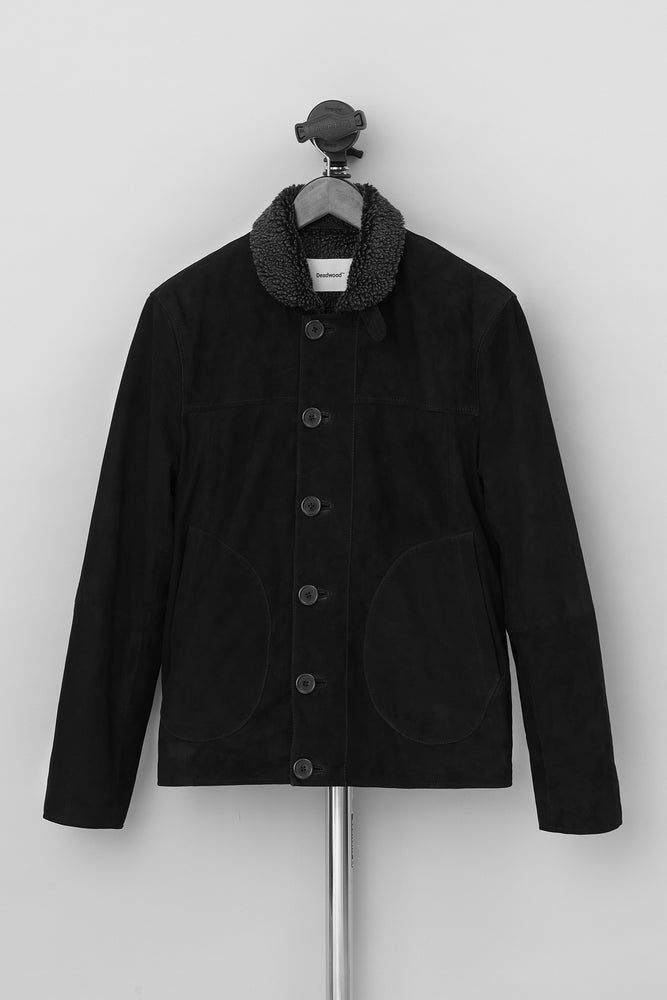 Derrek Deck Jacket Suede Black